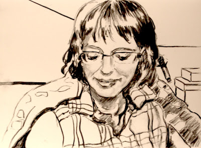 Barbara drew me while we talked on Skype!
