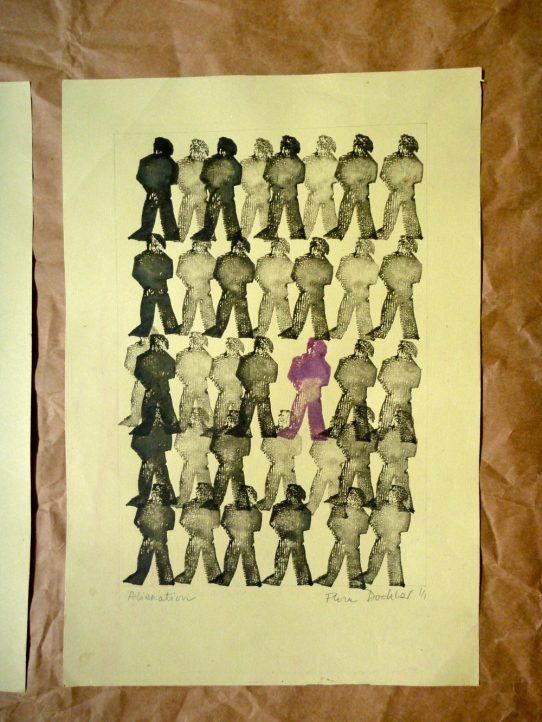 """One of Many"" - potato print ©Flora Doehler, 1974"