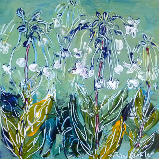 Waving Nicotiana by Flora Doehler. (sold)