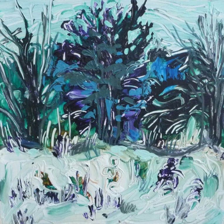 January Garden by Flora Doehler. (sold)