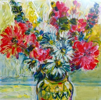 Just for you.  painting by Flora Doehler