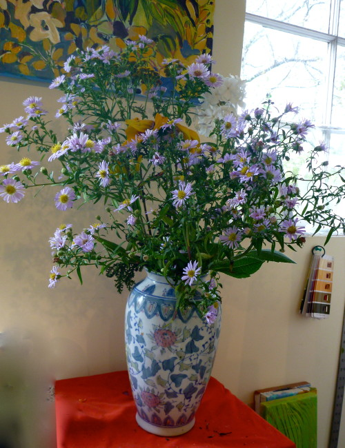 This vase was made for these asters.