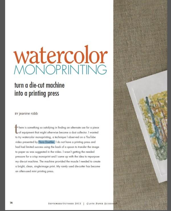 wc monoprinting