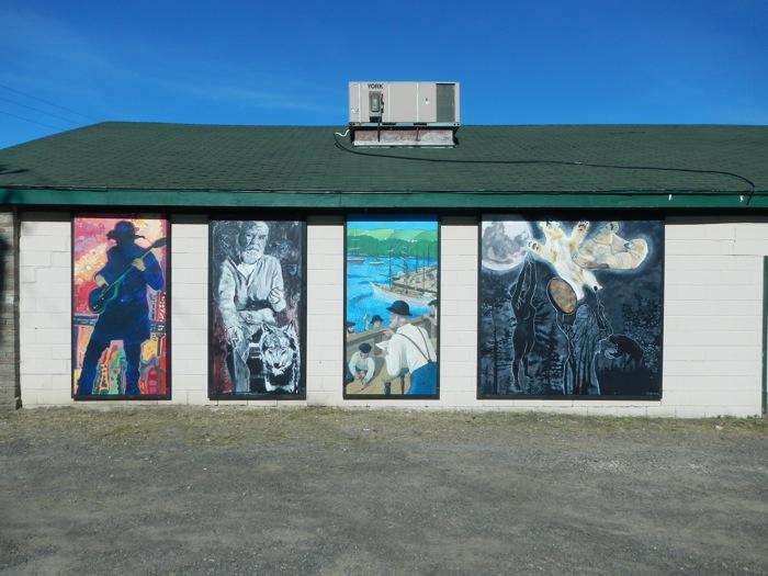 Paintings by Flora Doehler, Ken Flett, Dick Rampen, and Justine Kerr.
