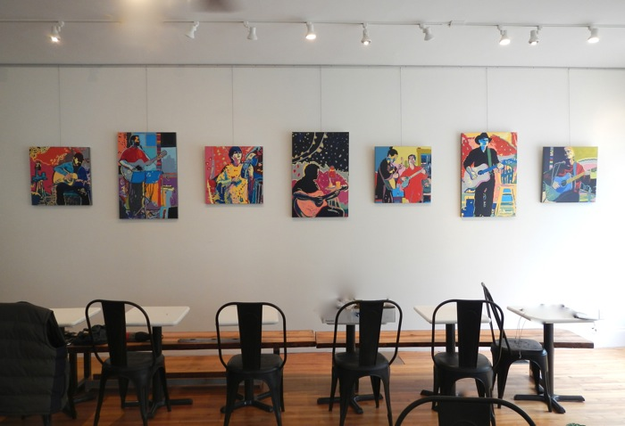 A peek at my wall at Sissiboo Coffee Bar & Gallery.
