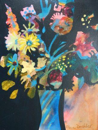 "©Flora Doehler After Midnight Acrylic on canvas 18"" x 24"" $700"