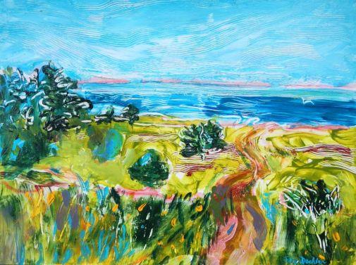 "©Flora Doehler Brier Island Acrylic on Canvas 24"" x 18"" $700"