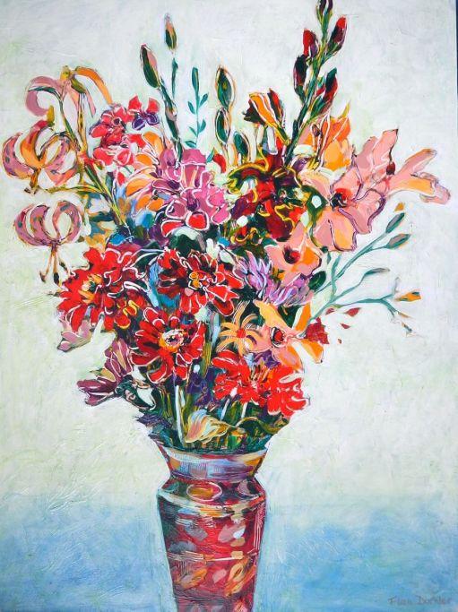 "©Flora Doehler Beauties Acrylic on canvas 30"" x 40"" $1400"