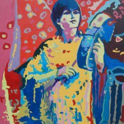 """©Flora Doehler The Heartbeat Acrylic on canvas 24"""" x 24"""" $850"""