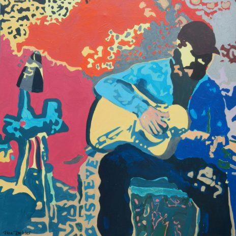 "©Flora Doehler Steve's Paradise Acrylic on canvas 24"" x 24"" sold"