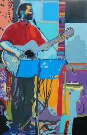 "©Flora Doehler Feelin' Good Acrylic on canvas 36"" x 24"" $1100 (Teichert Gallery, Halifax)"