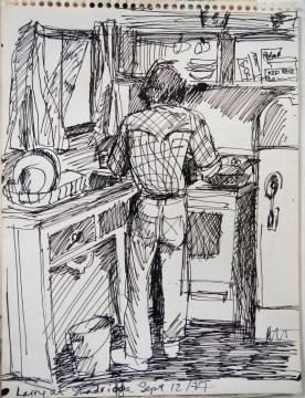 More dish washing. 1977. ©Flora Doehler