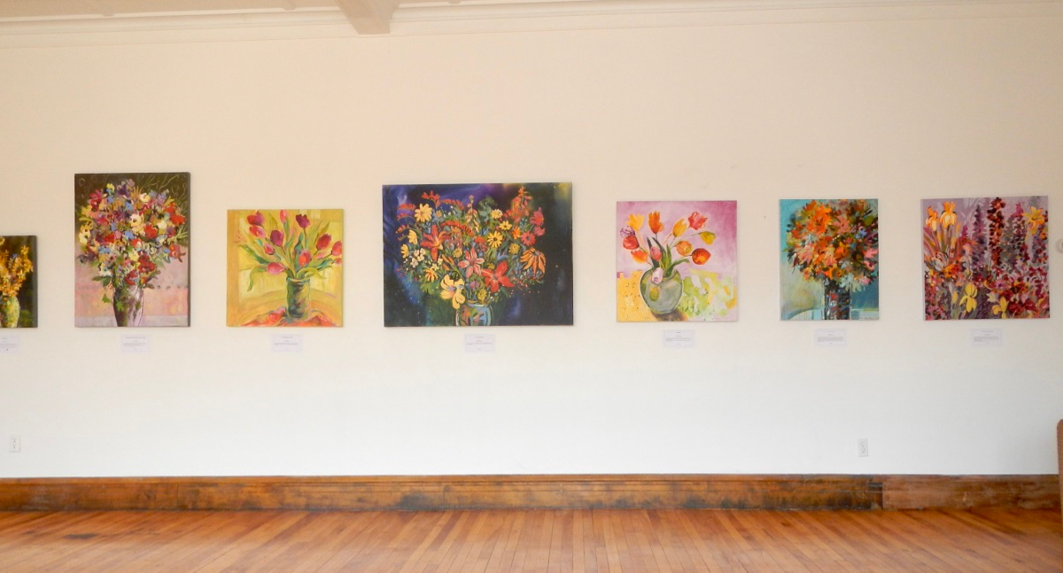 My Floral Paintings on Display in Bear River, Nova Scotia