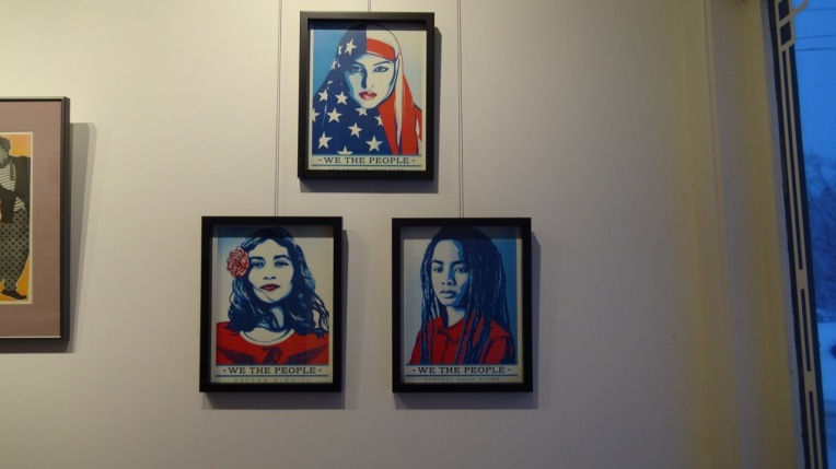 Shepard Fairey posters of the Women's March