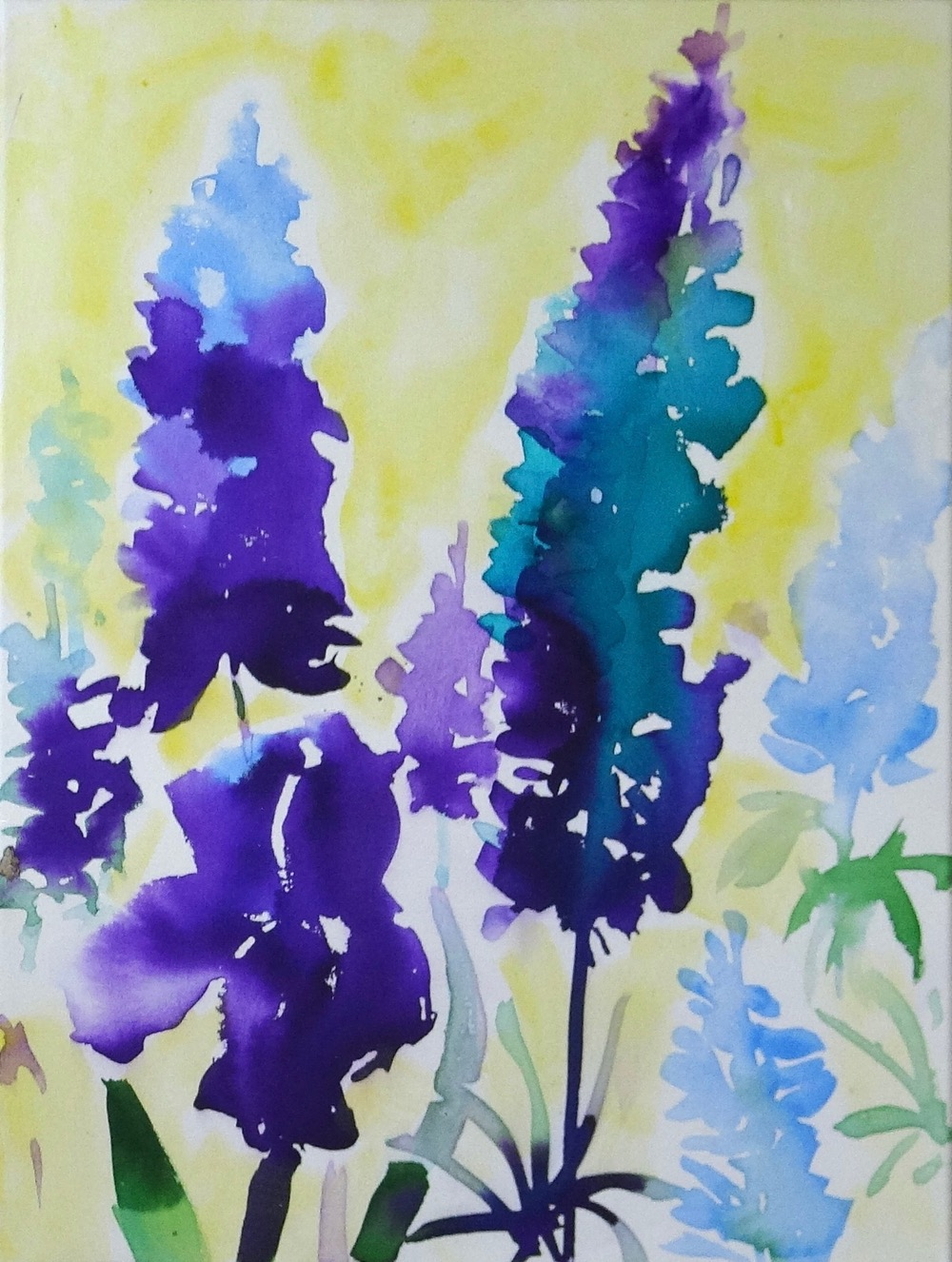 Painting Purple June Flowers – a new video