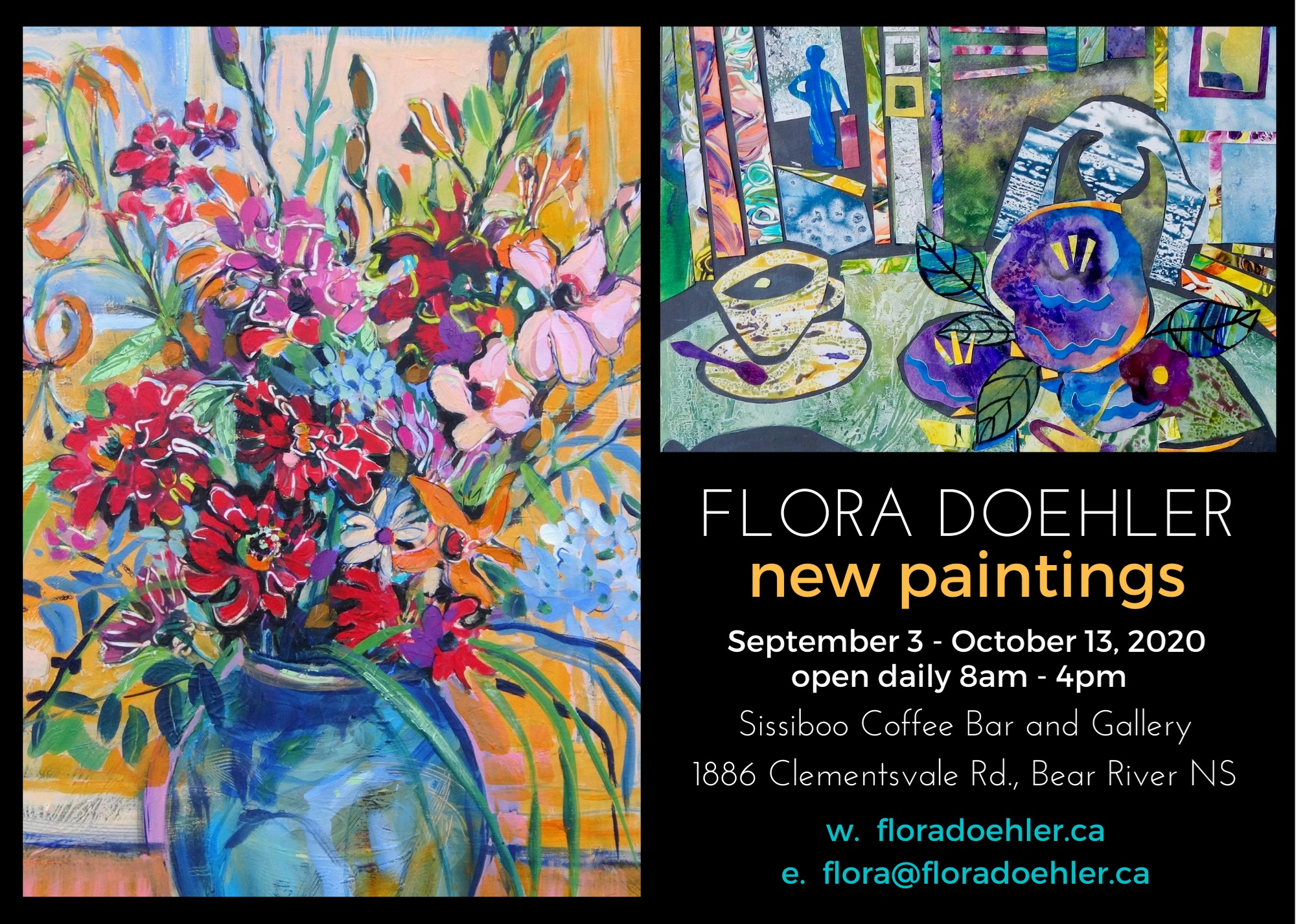 New Paintings, Soft Openings and the Love of Flowers – Sept 3 – Oct 13, 2020